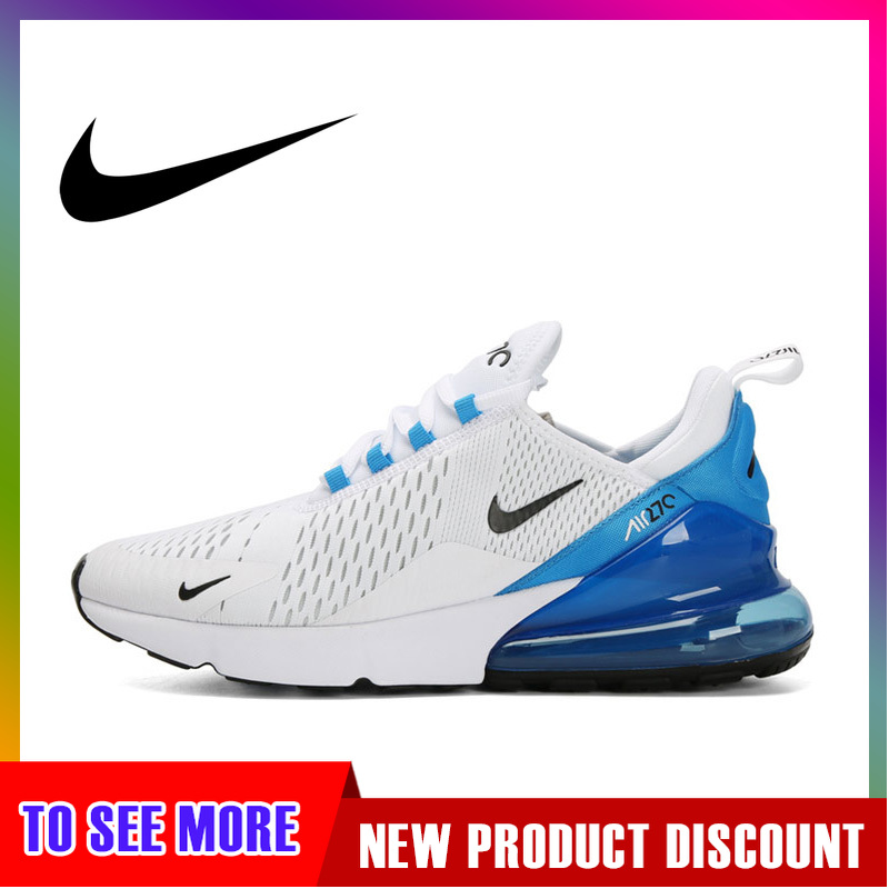 Original Authentic Nike Air Max 270 Men's Running Shoes Sports Outdoor Sneakers Comfortable Absorbing Lightweight AH8050-110