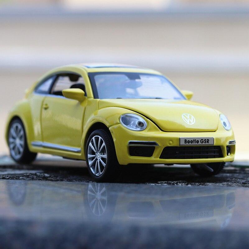 Car Model For Volkswagen Beetle GSR 1:32 Pull Back Acousto-optic Alloy Discast Street Metal Business Cars Model Children Toy