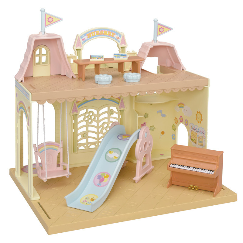 Sylvanian Families Toy Sylvanian Families Rainbow Castle Kindergarten GIRL'S Play House Big House Villa 5316