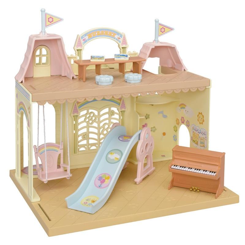 Sylvanian Families Toy Sylvanian Families Rainbow Castle Kindergarten GIRL'S Play House Big House Villa 5316