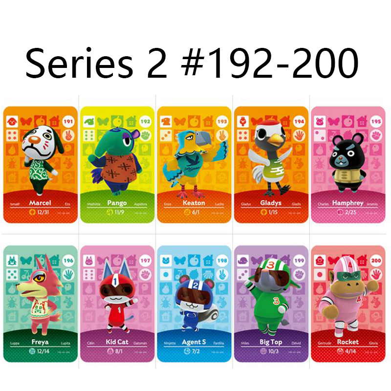 Series 2 (192 To 200) Animal Crossing Card Amiibo Cards Locks Nfc Card Work For Switch NS 3DS Games Series 2 (192 To 200)