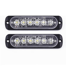 Universal White 6 Led Car Daytime Running Light Day Driving Lamp 333mA 18 W(China)