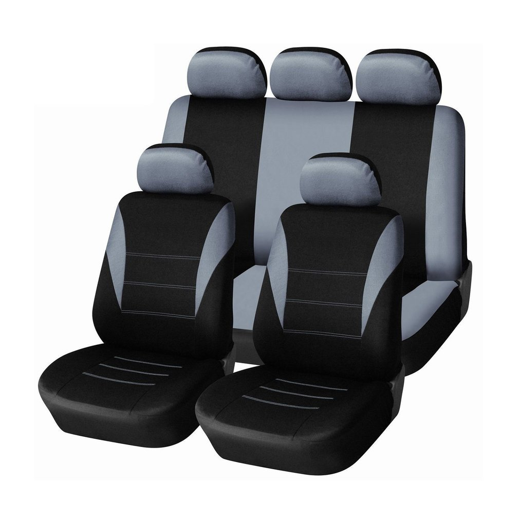 9pcs/Set Car Seat Covers Dustproof Washable Seat Protectors Pad Cover Light Universal Full Seat Covers For Auto Cars