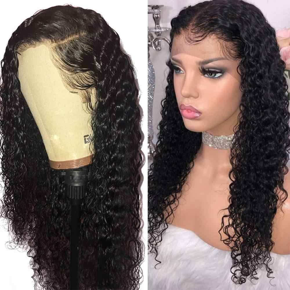 Deep Wave Lace Front Human Hair Wigs With Baby Hair 13x4 Lace Brazilian Wigs For Black Women 150% Density Ms Love Non Remy
