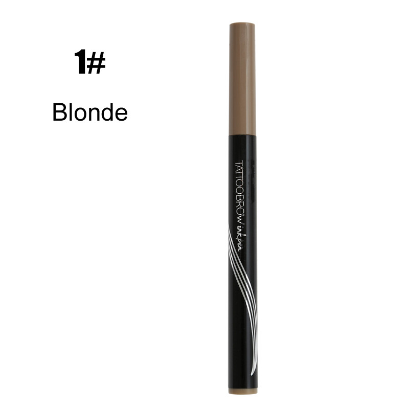Hot Professional Microblading Eyebrow Pen Fork Tip Eyebrow Tattoo Pencil Natural Waterproof Long Lasting Eye Brow Tint TSLM1(China)