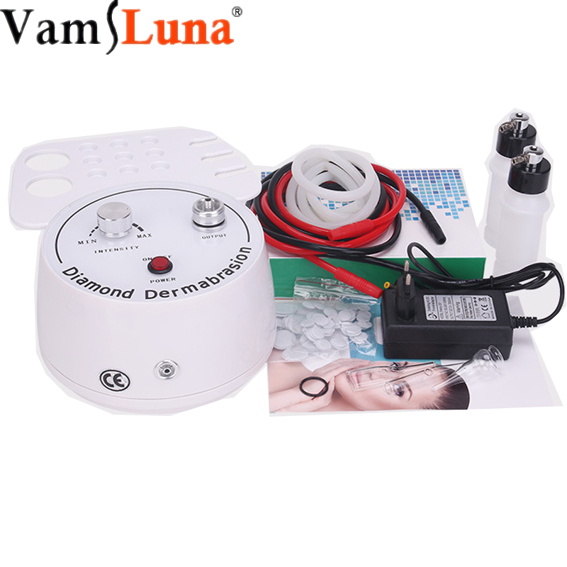 3 In 1 Diamond Microdermabrasion Dermabrasion Machine Facial Care Salon Equipment For Personal Home Use With Diamond Tips