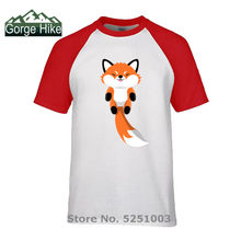 Summer Funny Kawaii Foxy Hunter Tail Hipster T Shirt Nature Wild Cute Red Baby Fox Men's T-Shirt Camisetas Lovely Animal Tshirts(China)