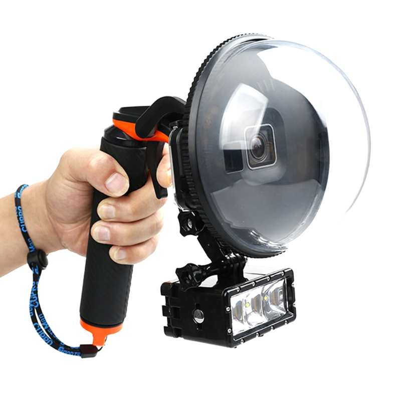 Funda carcasa resistente al agua para GoPro Hero 5/6, disparador de cámara 12V DC caravana/RV lámpara LED blanco frío/blanco cálido techo de cristal LED luz de techo autocaravana/luz de domo de yate