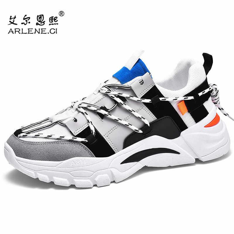 Neue Laufschuhe Männer Hochwertige Lace-up Sneakers Atmungsaktive Outdoor Sport Schuhe Männer Walking Jogging Trend Männlichen Plattform Schuhe