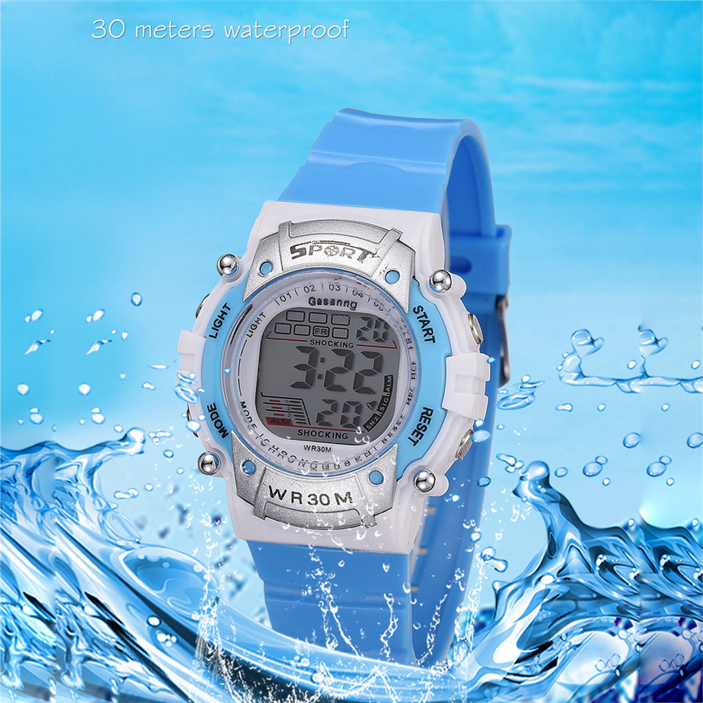 Children Digital Watch New Creative Fashion Waterproof Multi-Function Plastic Sports Electronic Watch Relogio Infantil