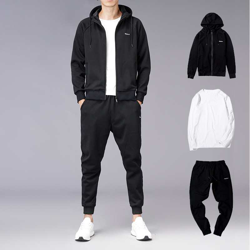 2019 New Style Hoodie Suit Spring And Autumn MEN'S Hoodie Handsome Casual Sports Three-piece Set