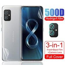 """สำหรับ Asus Zenfone 8 Soft Hydrogel เลนส์กล้องด้านหน้าป้องกันฟิล์มสำหรับ Asus Zen Fone Zenfone8 5.9 """"2021โทรศัพท์ฟิล์มป้องกันฟิล์ม Glas"""