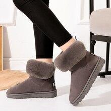 warm winter boots women snow shoes fur ankle for female 2019 botas feminino