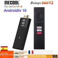 Mecool KD1 TV Stick Amlogic S905Y2 Android 10 2GB 16GB certificado por Google Voz 1080P 4K 60pfs 2,4G y 5G Wifi BT4.2 reproductor de TV