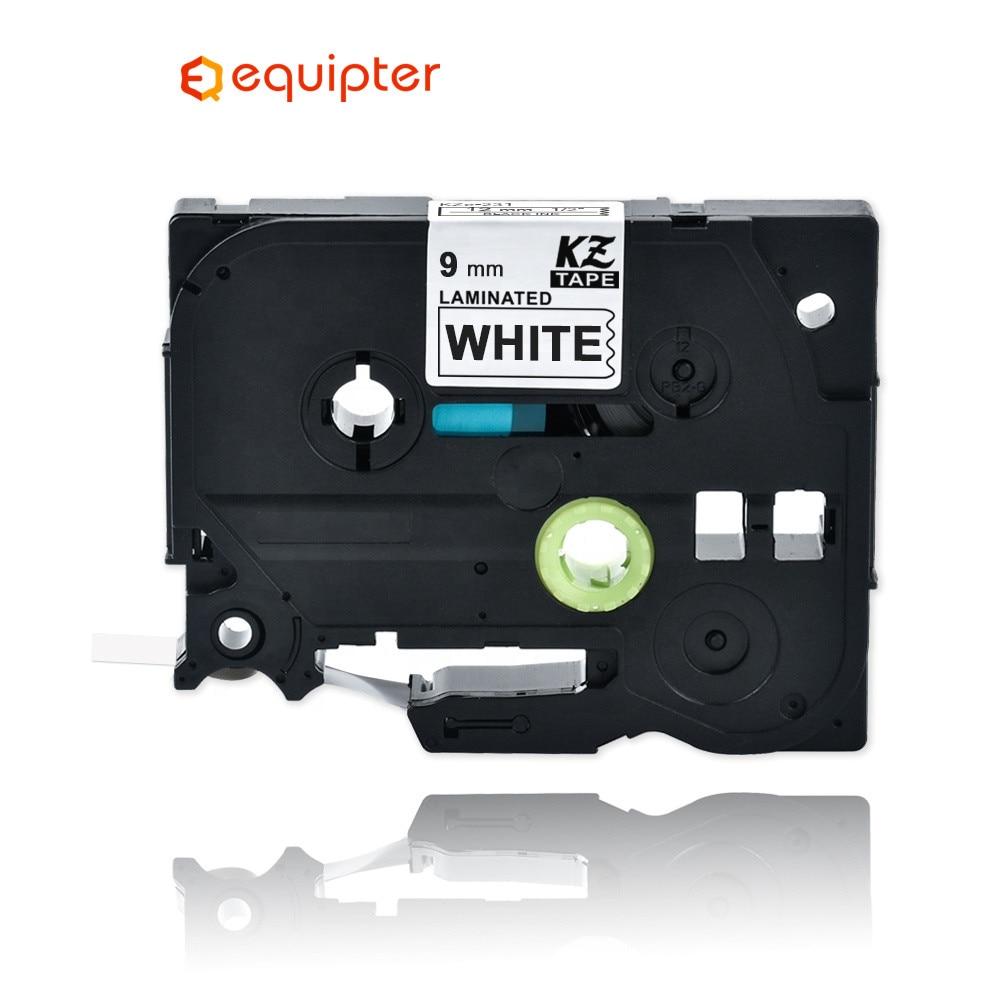 Tze221 9mm Compatible For Brother P-touch Printers Black On White Tze Label Tape Laminated Ribbon Tze-221 Tz221 Tz-221 Tze Tz221