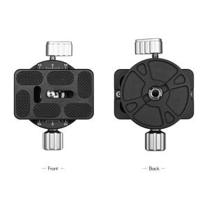 Image 2 - Andoer PAN 03 بانورامية ترايبود رئيس الإفراج السريع لوحة المشبك محول Arca السويسري القياسية سبائك الألومنيوم
