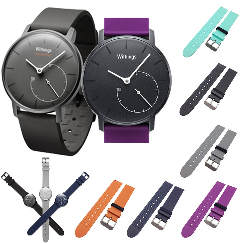 EiEuuk Replacement Soft Silicone Watcth Band Strap For Withings Activite Steel/Withings Activite Pop