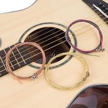 6Pcs/Set Classic Metal Guitar Strings Steel Wire Acoustic Folk Guitar Accessory