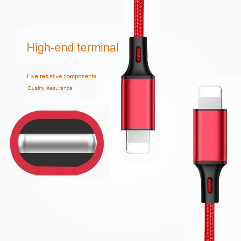 1 2 3 m المنشأ USB بيانات كابل الشاحن ل فون 11 برو X XR XS ماكس 5 5S SE 6 6S 7 8 زائد سريع شحن الهاتف المحمول USB كابلات
