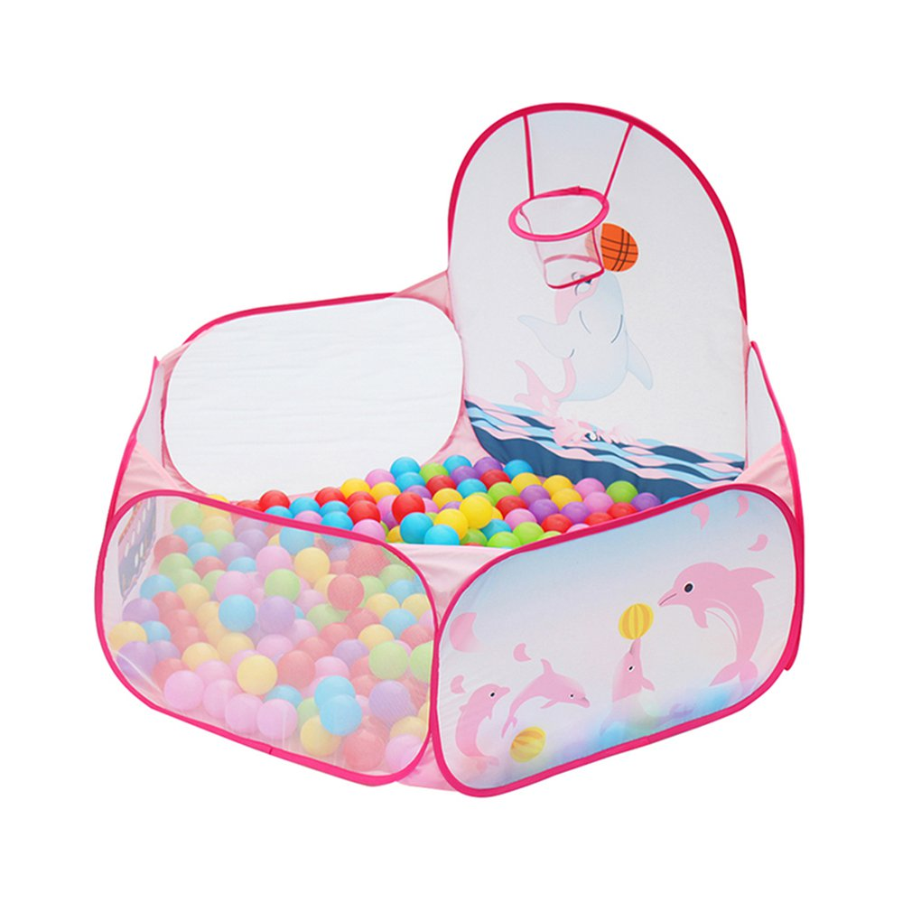 Foldable Baby Dolphin Balls Pool Pit Indoor Outdoor Children Baby Toy Game Play House Kids Gift Play Tent With Ball Frame