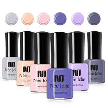 NEE JOLIE 8ml 36 Solid Colors Nail Polish New Bottle Fast Dry Colorful Black White Red Long Lasting Art Varnish