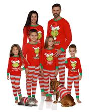 Long Sleeve Pants Pajama Suit Grinch Family Autumn Winter Pajamas for All Members Christmas Gift NO34-47