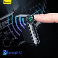 Baseus Auto Aux Bluetooth Adapter 3,5mm Jack Audio Bluetooth 5,0 Car Kit Drahtlose Freihändige Empfänger Für Telefon Sender Musik