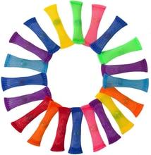 10шт сетка мраморный шар дети взрослые сенсорные непосед игрушки стресс помощи игрушка для спокойствия аутизм СДВГ особыми потребностями терапия инструменты
