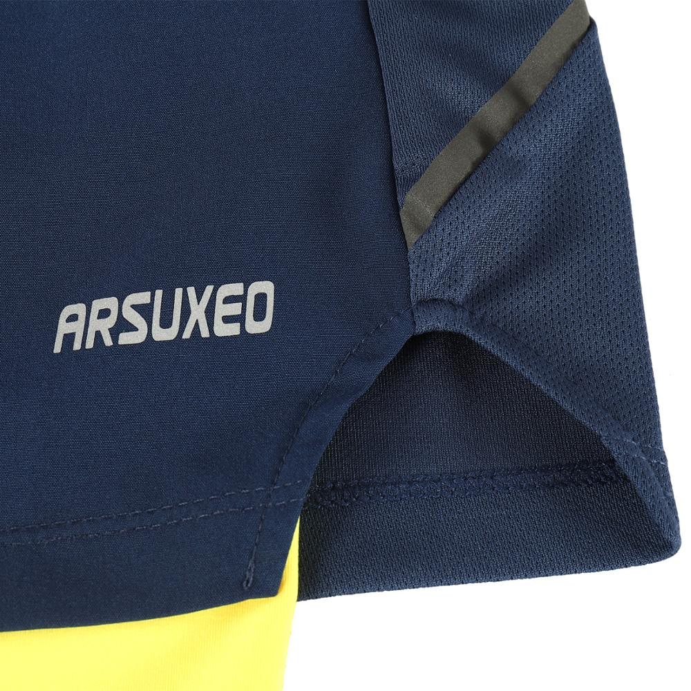 ARSUXEO 2019 Men s Running Shorts 2 in 1 with Longer Liner Active Training Exercise Jogging Sports Shorts Quick Dry B191 in Running Shorts from Sports Entertainment