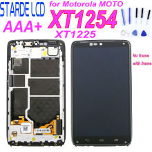 Starde Lcd for Motorola Droid Turbo XT1254 LCD Display Screen with Touch and Frame for Moto Maxx Screen XT1225 LCD Display