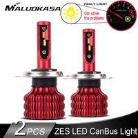 2 pces led canbus h7 farol lâmpadas 10000lm/pces 50 w zes chip led h8 hb4 h1 h11 led luzes de nevoeiro 12 v 24 v hi lo farol luzes do carro|Lâmpadas do farol do carro (LED)| |  -