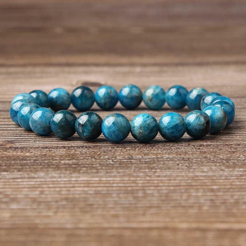 LanLi 8mm תכשיטים כחול Kyanite אבנים loose חרוזים צמיד להיות fit עבור גלמור rmen ונשים קמע