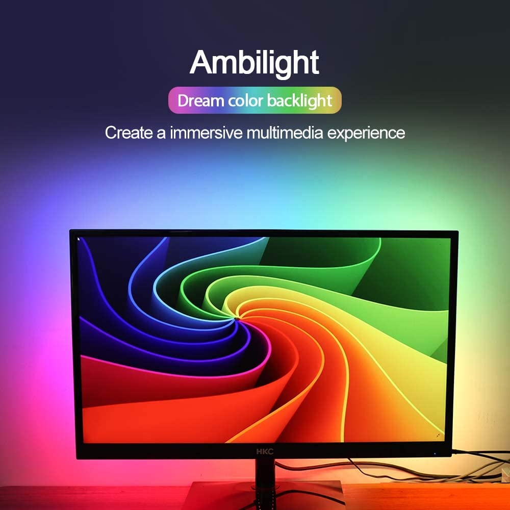 DIY Ambilight PC Dream Screen USB LED Strip HD Computer Monitor PC Screen Backlight Lighting LED Strip 1 2 3 4 5m