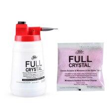 Полностью кристаллический очиститель окон для мытья автомобиля, лейка для очистки стекла, спрей-бутылка с дополнительным порошком для заправки