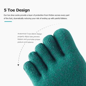 Image 5 - AONIJIE Lightweight Low Cut Athletic Toe Socks One Pair Quarter Socks For Five Toed Barefoot Running Shoes Marathon Race E4110