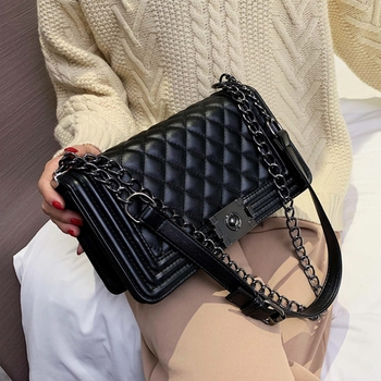 Women's  Chain Mini OL Crossbody Bag  PU Leather Women Crossbody Bags Fashion Design Women Shoulder Bags Small square bag foxer brand 2018 women s leather bag fashion crossbody bags for women chain bags girl shoulder bag gift for valentine s day