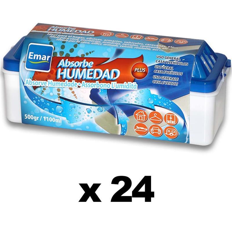 BOX 24 Units 7573-Absorbing Humidity 1100 Ml. Capacity Open