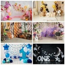 Arrière-plan pour photographie d'anniversaire de flamand rose, ballon rose, gâteau de fleur, Dessert, mur Portrait de bébé, arrière-plan pour Studio Photo