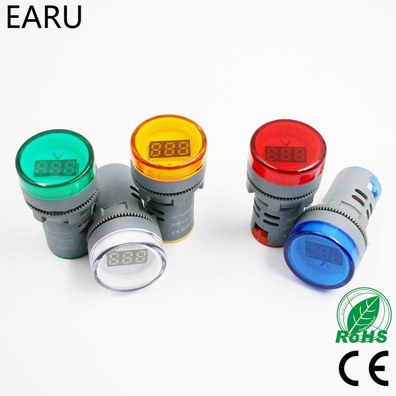 22MM AD16 AD16-22DSV Type AC 60-500V Mini Voltage Meter LED Digital Display AC Voltmeter Indicator Light/Pilot Lamp 110V 220V