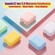 Macaron i12 tws, беспроводные наушники, Bluetooth 5,0, наушники, гарнитура,, сенсорный, всплывающие, настоящие стерео наушники, наушник для телефона