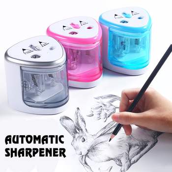 New Automatic Pencil Sharpener Two-hole Electric Touch Switch Pencil Sharpener Stationery Home Office School Supplies Electronic недорого
