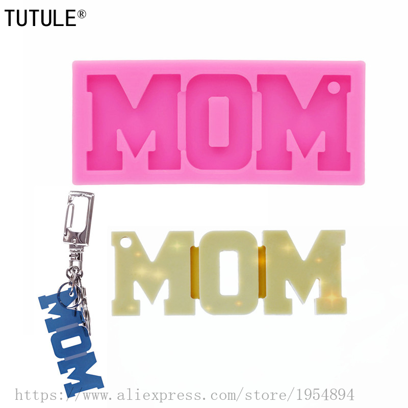 Gadgets,MOM,Keychain Silicone Molds DIY Necklace Jewelry Shiny Epoxy Resin Mold Customized Wholesale Clay Resin Mold