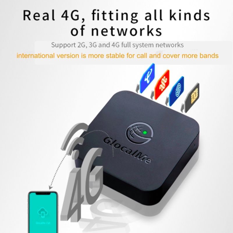 Glocalme Simbox Multi 4 SIM Dual Standby 4G Roaming Adapter For IPhone Android No Need Carry Work Wi/ WiFi Data To Make Call SMS