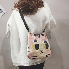 Cartoon cute canvas female bag New soft animal print canvas crossbody bag fashion cloth bag rope canvas print beach bag