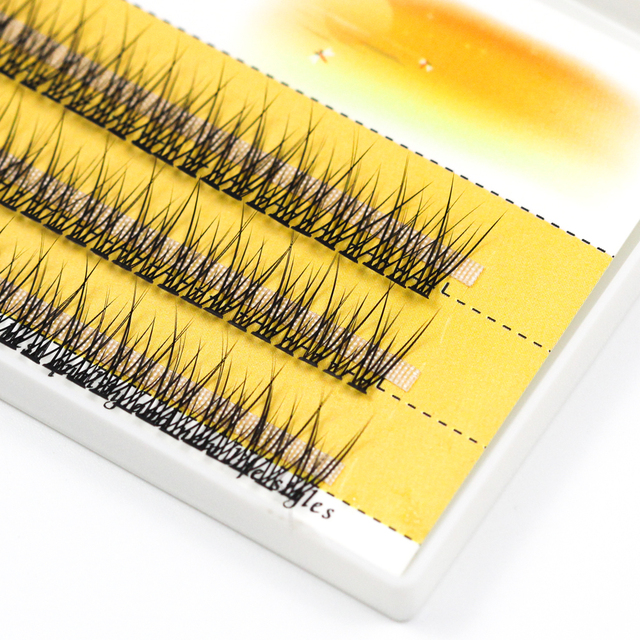 Grafting World Fish Tail Eyelash 8mm/10mm/12mm Dove Tail Individual Eyelash Extensions 1