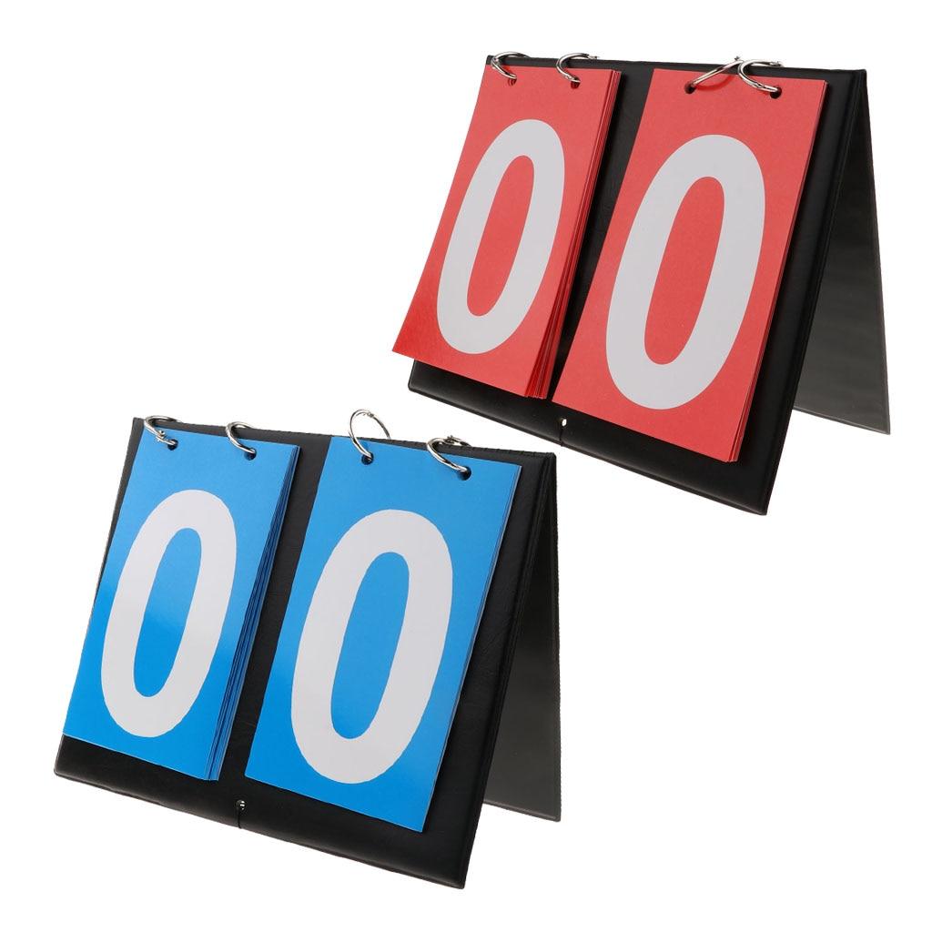 Sporting Goods 2 Digit Portable Table Top Scoreboard Indoor Outdoor Easy-Flip Basketball, Football