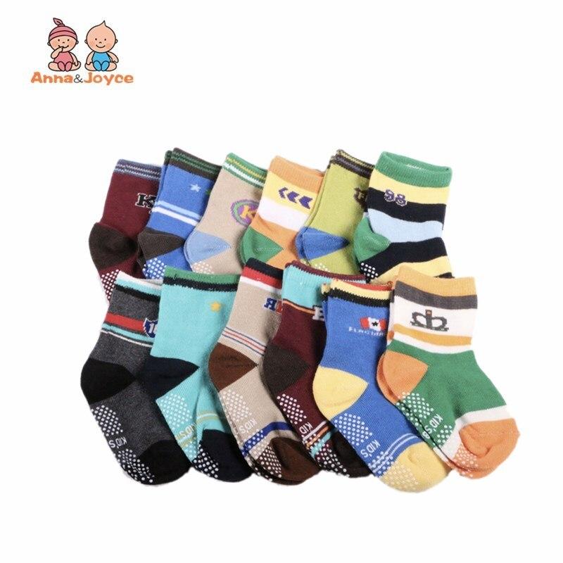6pairs/lot Baby Socks/Kid Boy Slip-resistant Cartoon Floor Socks 1-3 Years Boy Socks