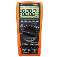 AideTek VC97A Автоматический диапазон DMM AC DC Вольтметр Сопротивление емкости Цифровой мультиметр VS