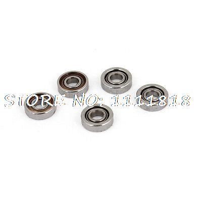 5Pcs 601X Dual Metal Shields Deep Groove Ball Bearing 1.5mm X 4mm X 1.12mm