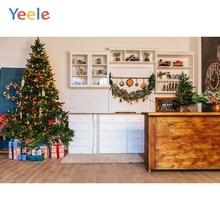 Yeele Christmas Backdrop Tree Gift Wall Cabinet Home Toy Photography Background For Photo Studio Photobooth Shoot Photophone